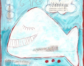 whalesong - ART CARD - ecofriendly