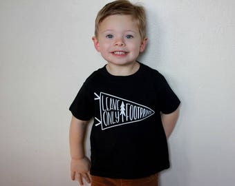 Leave Only Footprints Forest Adventure Toddler Tee Baby Shirt Hiking Camping Little Man Tee Shirt 6MO 12MO 18MO 24MO