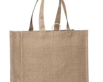 Slim Line Starched Jute Supermarket Bag