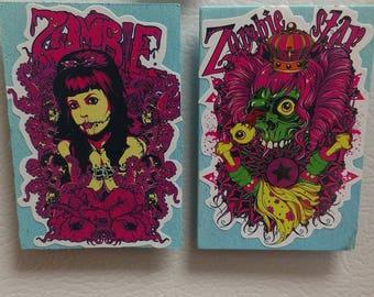 Punk Rock Zombie Magnet set