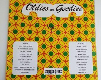 Rare Vintage Oldies But Goodies Volume 1 LP Vinyl Record SKA Reggae Studio 1
