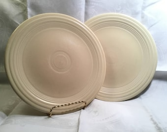 2 Unmarked Ivory Fiesta Luncheon Plates
