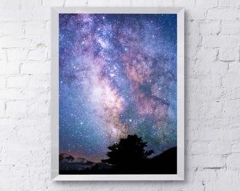 BRIGHT GALAXY STEM Geek Gift Celestial Print sons birthday present daughters birthday gift astronomy science nasa space night sky stargazing