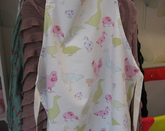 Handmade Adult Apron Ducks & Chickens