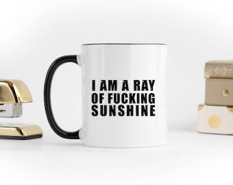 Fucking Sunshine Mug, Coffee Mug, Fuck Mug, Tea Mug, No Fucks, Best Selling Items, Funny Sassy Mug, Fucking, Girlboss, Gift For Her, OPM-030