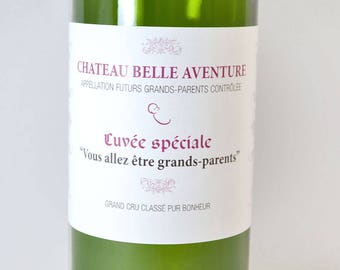 Grandparents - wine bottle label
