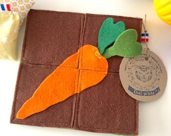 "Felt puzzle ""my little Garden: carrots"""