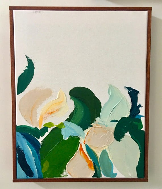 Abstract Botanical Series - framed original painting
