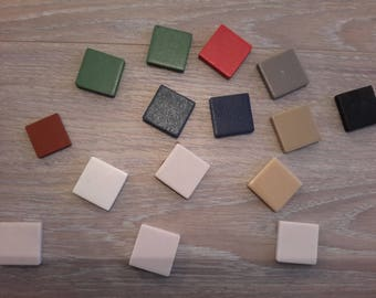 Lot de 15 tesselles divers coloris