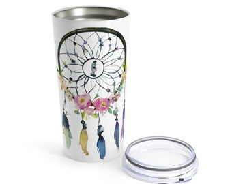 Tumbler 20Oz: Floral Dreamcatcher