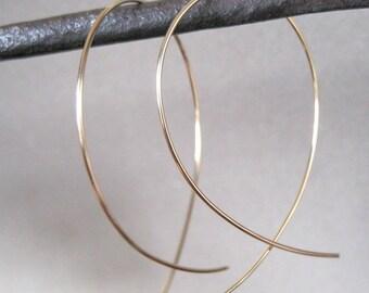 Gold Hoop Earrings - Hoop Earrings - Gold Earrings