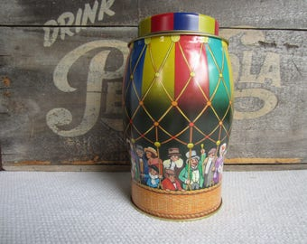 Vintage Hot Air Balloon Tin made in England