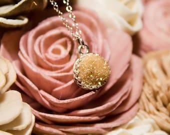 Druzy Necklace, Champagne Druzy Quartz Necklace, Drusy Necklace, Drusy Jewelry, Druzy Jewelry, Druzy Quartz, Druzy, Bridal Necklace