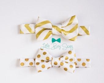 Boys Gold Bow Tie, Boys Bow Tie, Toddler Bow Tie, Mens Bow Tie, Wedding Bow Tie, Ring Bearer Bow Tie, Boys Clothes, Boys Gift, Gold Wedding