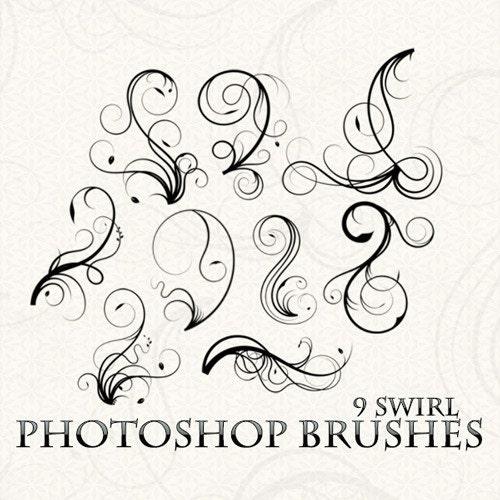 Swirls Photoshop Brushes Flourish Photoshop Brushes