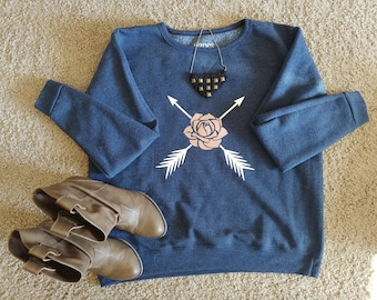 Flower and Arrow Sweatshirt