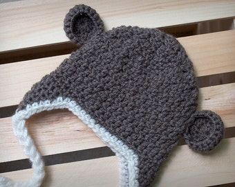 Monkey See, Monkey Do Crochet Beanie with Braids