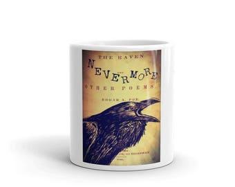 Edgar Allan  Poe The Raven Book page Mug