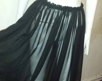 Black Maxi shear skirt