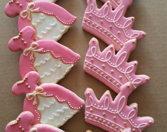 Princess Birthday Cookies 1 Dozen (12)
