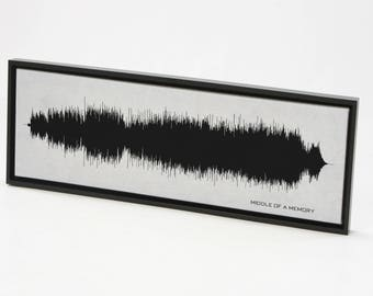 Middle of a Memory : Sound Wave Art Print created from the entire song.