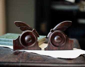 Pair of antique wooden architectural details