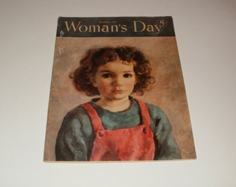 Vintage Womans Day Magazine October 1947 - Cool Cover Artwork, Vintage Ads, Collectibles, Scrapbooking, Paper Ephemera