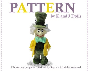 ENGLISH Instructions - Instant Download PDF Crochet Pattern Mad Hatter
