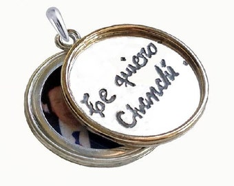 Foreign Language Own Handwritng Locket by donnaodesigns