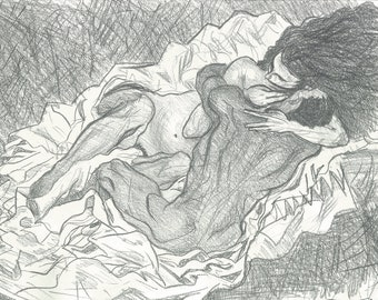 Embrace, Egon Schiele copy.