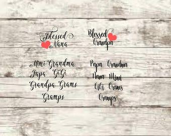 BlessedGrandparents 2 Font Options SVG