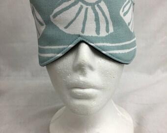 Seashells Cotton Sleep Mask and Case Set, Eye Mask, Travel Mask - Choose Color