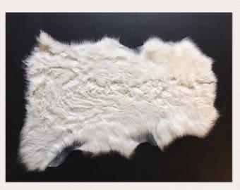 Ivory Lamb Shearling Natural photography layer basket filler