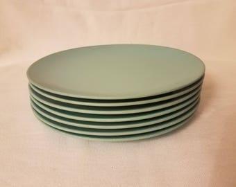 Vintage Turquoise Texasware Plates
