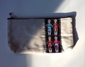 FREE Ship Canvas Cosmetic Bag