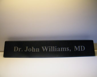 Nameplate,Engraved Granite Nameplate/Large Stone Nameplate/Desk Nameplate