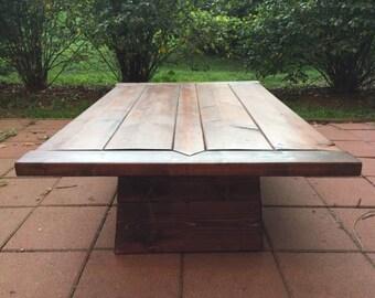Craftsman Style Plinth Coffee Table