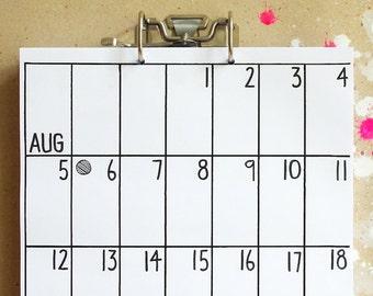 wall calendar May 2018 - Oct 2019
