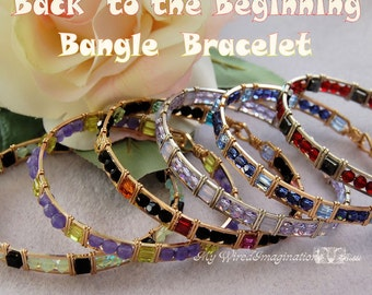 Beginner Bracelet Tutorial, Learn Wire Wrapping, learn to Make Wire Bracelets, Beginner Bangle Bracelet Tutorial, PDF Instructions