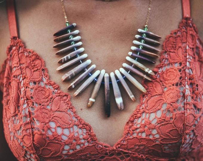 Sea Urchin Statement Necklace