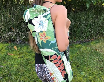 Stylish Hawaiian Print Yoga Mat Bag