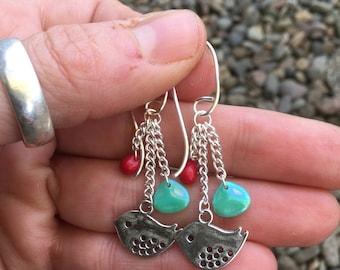 Tweety bird dangle earrings