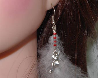 natural feather and fairy - OOAK