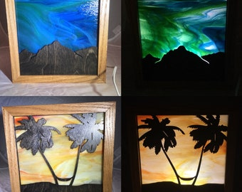Stained Glass LED Lamps