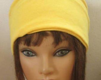 Jersey Knit Headband, Yellow Stretch Hair Band WorkOut Band Headband, Hair Accessory, Hair Turban, Women and Teens  #49