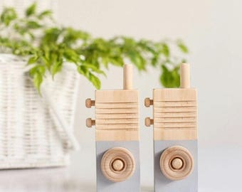 Wooden Walkie Talkies - Wooden toys, nursery decor, Imagination play, baby gift