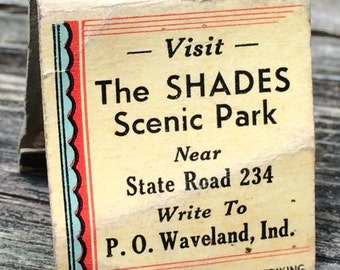 The Shades Scenic Park match book