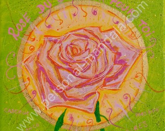 """""""Rose of happiness"""" mandala (Reproduction on canvas)"""