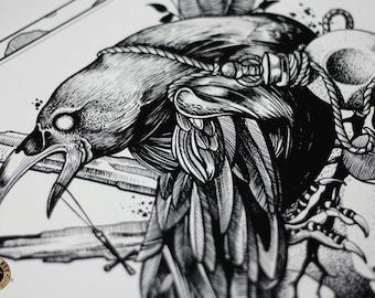 Art print,Wall art prints,Tattoo Print,tattoo art,wall art,dark art,dark ptint,gothic art,gothic print,skull art,horror art,horror print