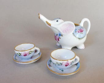 Child Size Elephant Tea Set